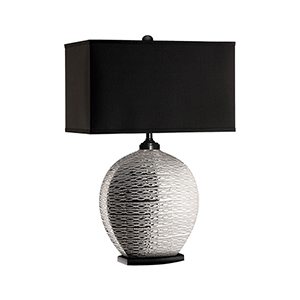 Pari Silver One-Light Table Lamp