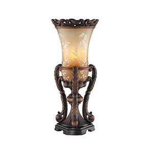 Chantilly Hand-Painted Bronze One-Light Table Lamp