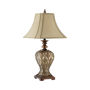 Jaela Gold Silver and Copper One-Light Table Lamp