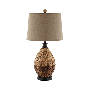 Weston Rattan One-Light Table Lamp
