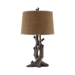 Cusworth Brown One-Light Table Lamp