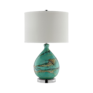 Morenci Teal One-Light Table Lamp