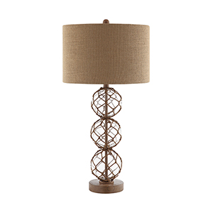 Breeze Black and Brown One-Light Table Lamp