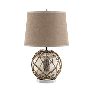 Marina Antique Mercury Glass One-Light Table Lamp