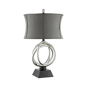 Trinity Silver and Black One-Light Table Lamp