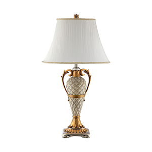Clarion Silver and Antique Gold One-Light Table Lamp