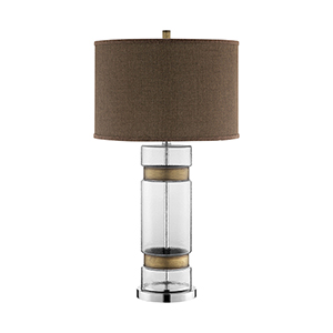 Stephanie Antique Brass One-Light Table Lamp