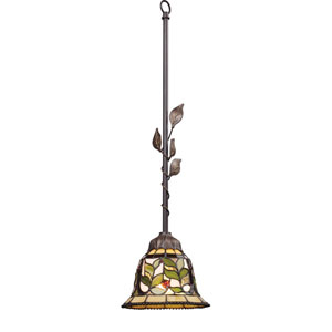 Latham Tiffany Bronze One Light Mini Pendant
