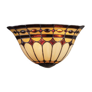 Diamond Ring Burnished Copper Two Light Wall Sconce