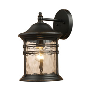 Madison Matte Black 11-Inch One Light Outdoor Sconce