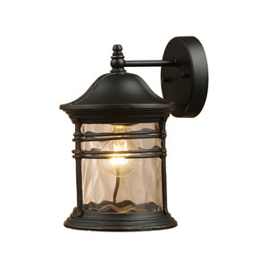 Madison Matte Black 14-Inch One Light Outdoor Sconce