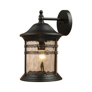 Madison Matte Black One Light Outdoor Sconce
