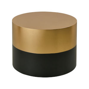 Draper Gold Leaf with Black Coffee Table