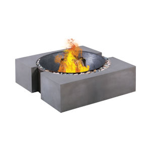 Volcano Polished Concrete Outdoor Fire Pit