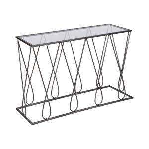 Neutro Graphite with Black Glass Console Table