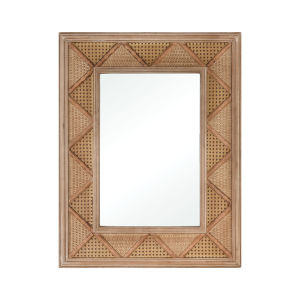 Cabana Natural Rattan 27 x 34 Inch Wall Mirror