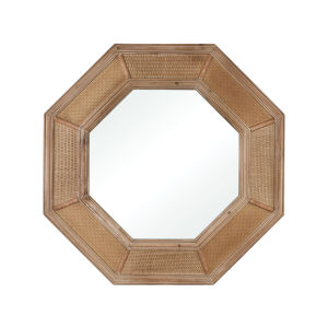 Cabana Natural Wood 36 x 36 Inch Wall Mirror