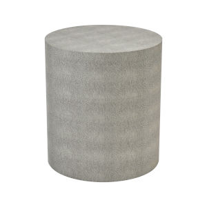 Dexter Grey Faux Shagreen 16-Inch Accent Table