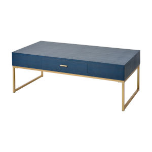 Les Revoires Navy Blue with Gold Coffee Table