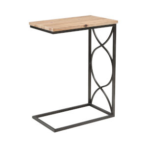 Billings Natural Wood with Aged Pewter 19-Inch Accent Table