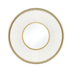 Kossett Gold 39 x 39 Inch Wall Mirror