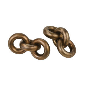 Cast Loop Antique Bronze Decorative Object