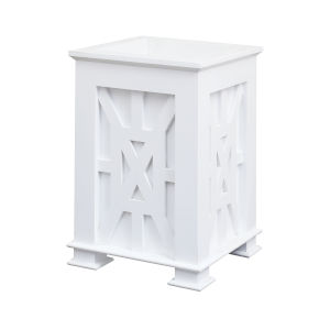 Lifestyle Grain De Bois Blanc Single Planter