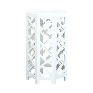 Lifestyle Grain De Bois Blanc 15-Inch Accent Table