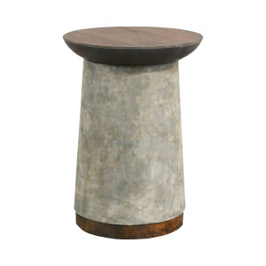 Lifestyle Woodlwith Stain with Natural Wax 18-Inch Accent Table