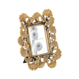 Foliate Antique Brass with Clear Glass 4 x 6 Inch Picture Frame