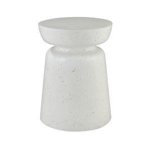 Dash White Terazzo 15-Inch Accent Table