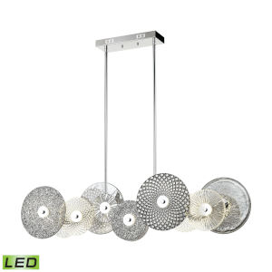 Dream Catcher Chrome with Smoked Glass 48-Inch 12-Light LED Chandelier