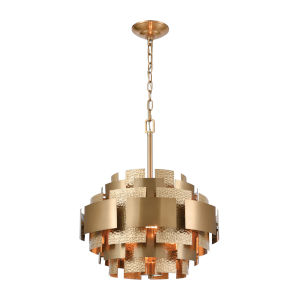 Case the Joint Satin Brass Three-Light Pendant