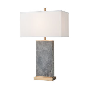 Archean Grey Marble with Cafe Bronze One-Light Table Lamp