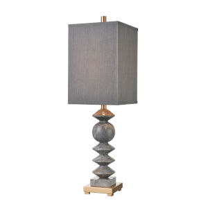 Grey Charles Grey Marble with Cafe Bronze One-Light Table Lamp