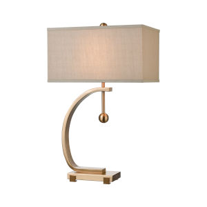 Straight Loop Cafe Bronze One-Light Table Lamp