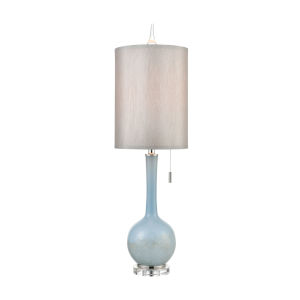 Quantum Blue with Polished Nickel One-Light Table Lamp
