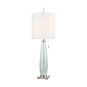 Confection Seafoam Green with Polished Nickel One-Light Table Lamp
