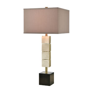 Bolster Honey Brass One-Light Table Lamp