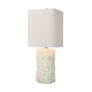 Shivered Stone White One-Light Table Lamp