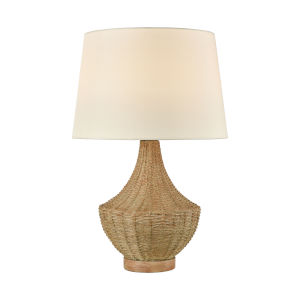 Rafiq Natural Rattan One-Light Outdoor Table Lamp