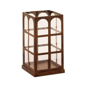 Lafayette Montana Rustic and Clear 12-Inch Candle Lantern