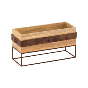 Telluride Natural Mango and Montana Rustic 8-Inch Planter