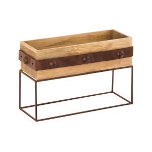 Telluride Natural Mango and Montana Rustic 13-Inch Planter