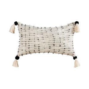 Hattie Black and White 16-Inch 16 x 26 In. Pillow
