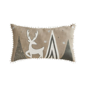 Winterscape Grey and White 16-Inch 16 x 26 In. Pillow