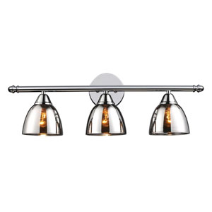 Reflections Polished Chrome Three-Light Bath Fixture