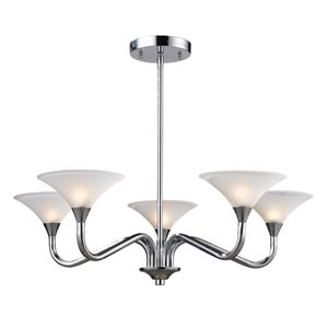 Jenson Polished Chrome Five-Light Chandelier