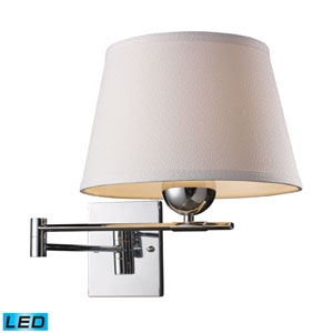 Lanza One Light Swing Arm Wall Sconce In Polished Chrome