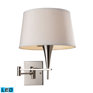 Swingarm One Light LED Wall Sconce In Polished Chrome